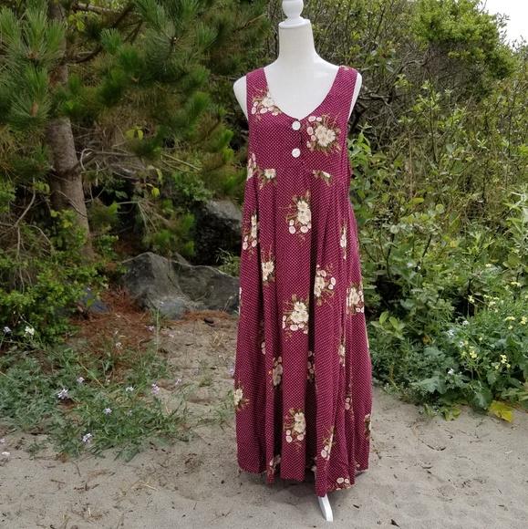 b6d26051015 Joni Blair California Vintage 90s Maxi Dress